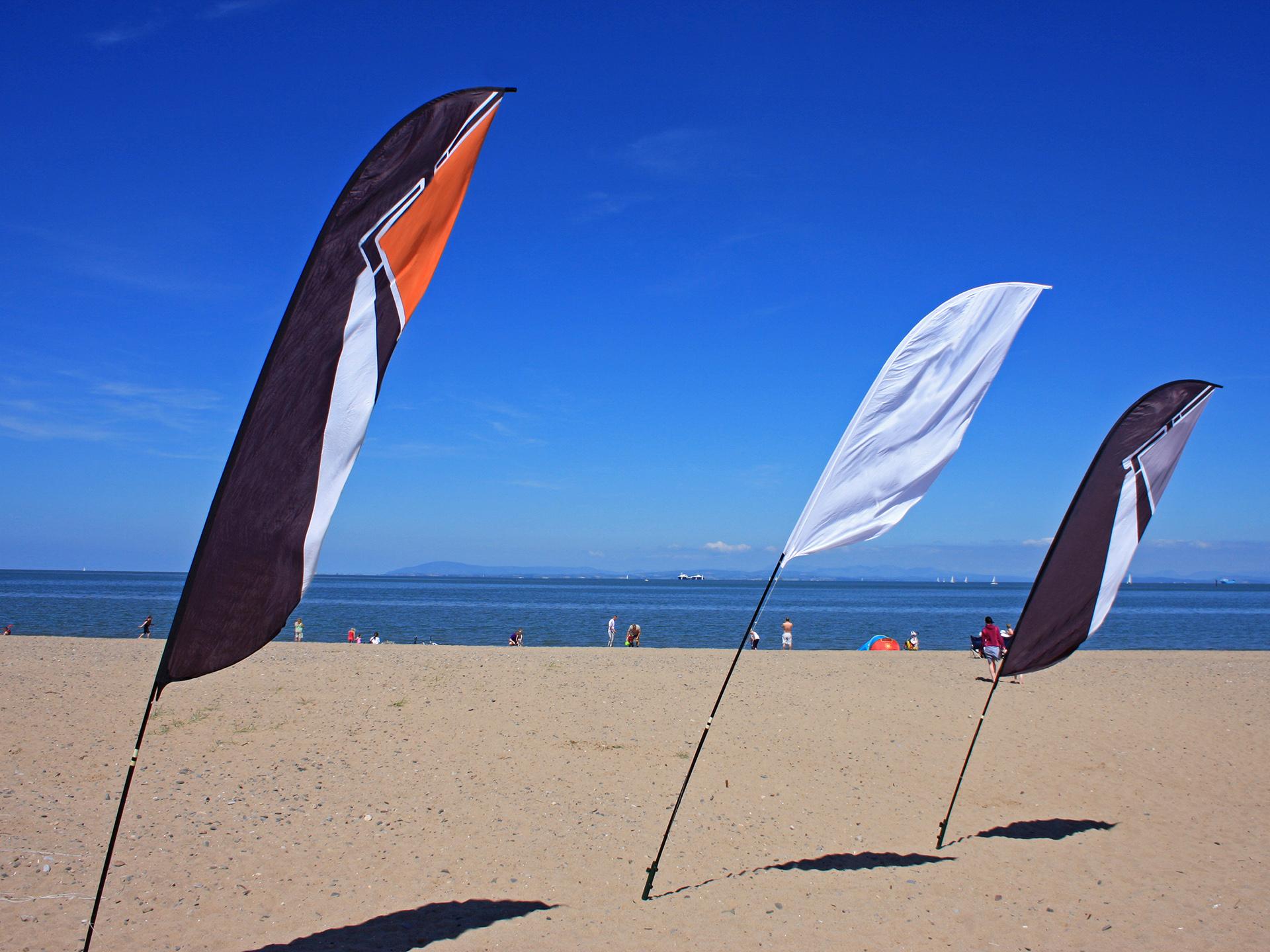 Få et tilbud på beachflagg