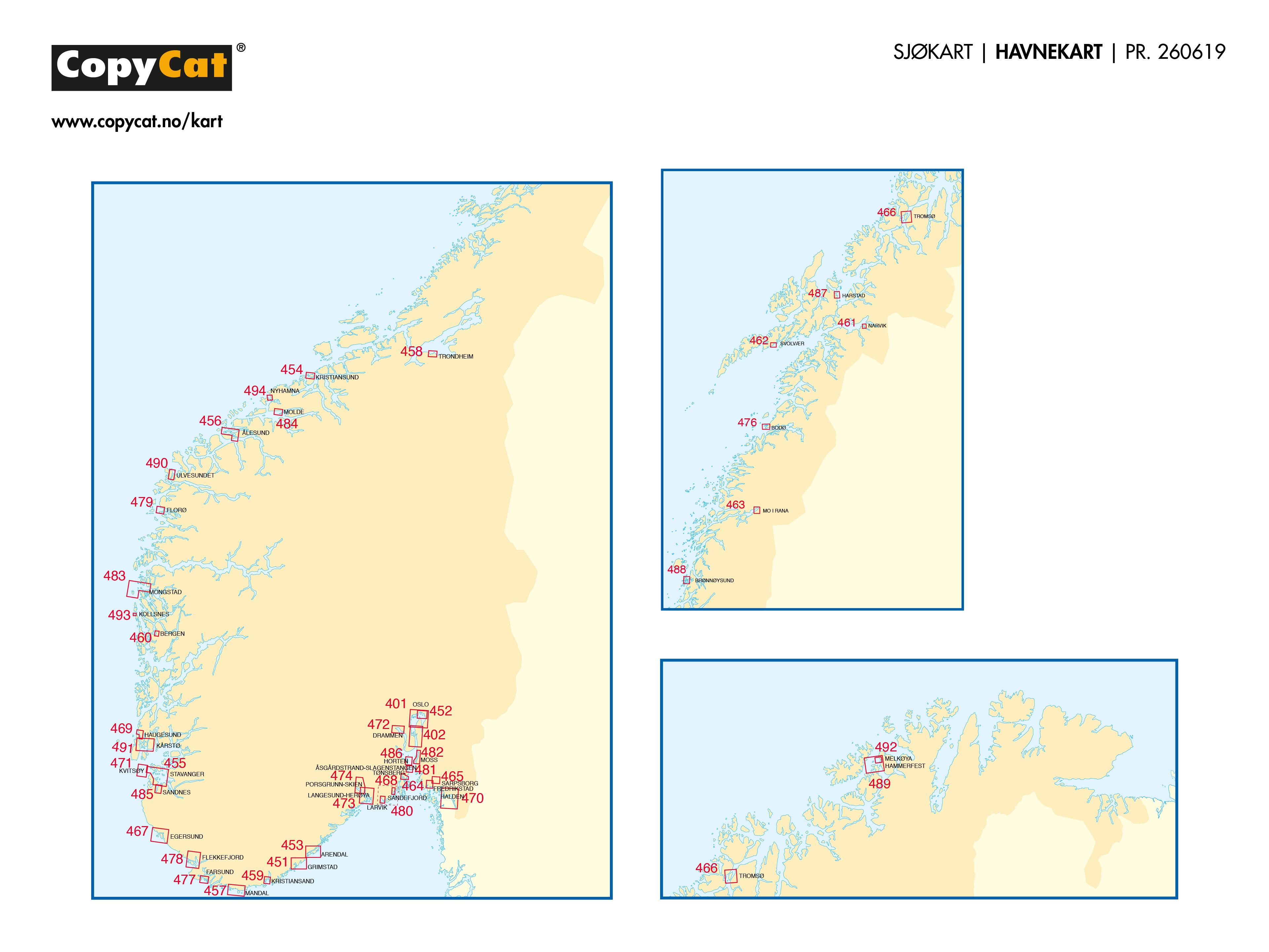 CopyCat Sjøkart Havnekart