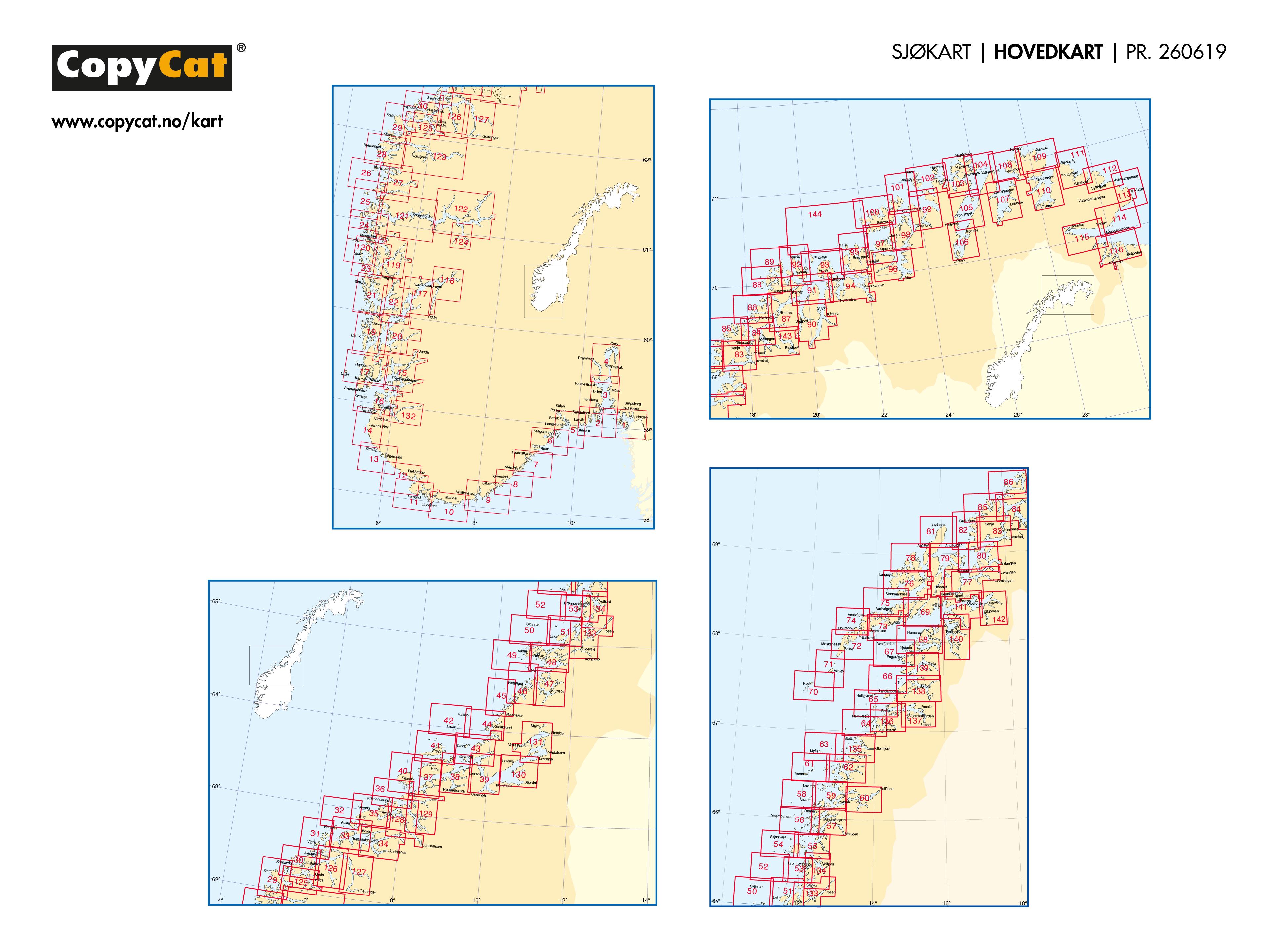 CopyCat Sjøkart Hovedkart